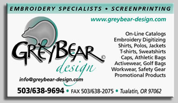 GreyBear Design  Embroidery And Screenprinting